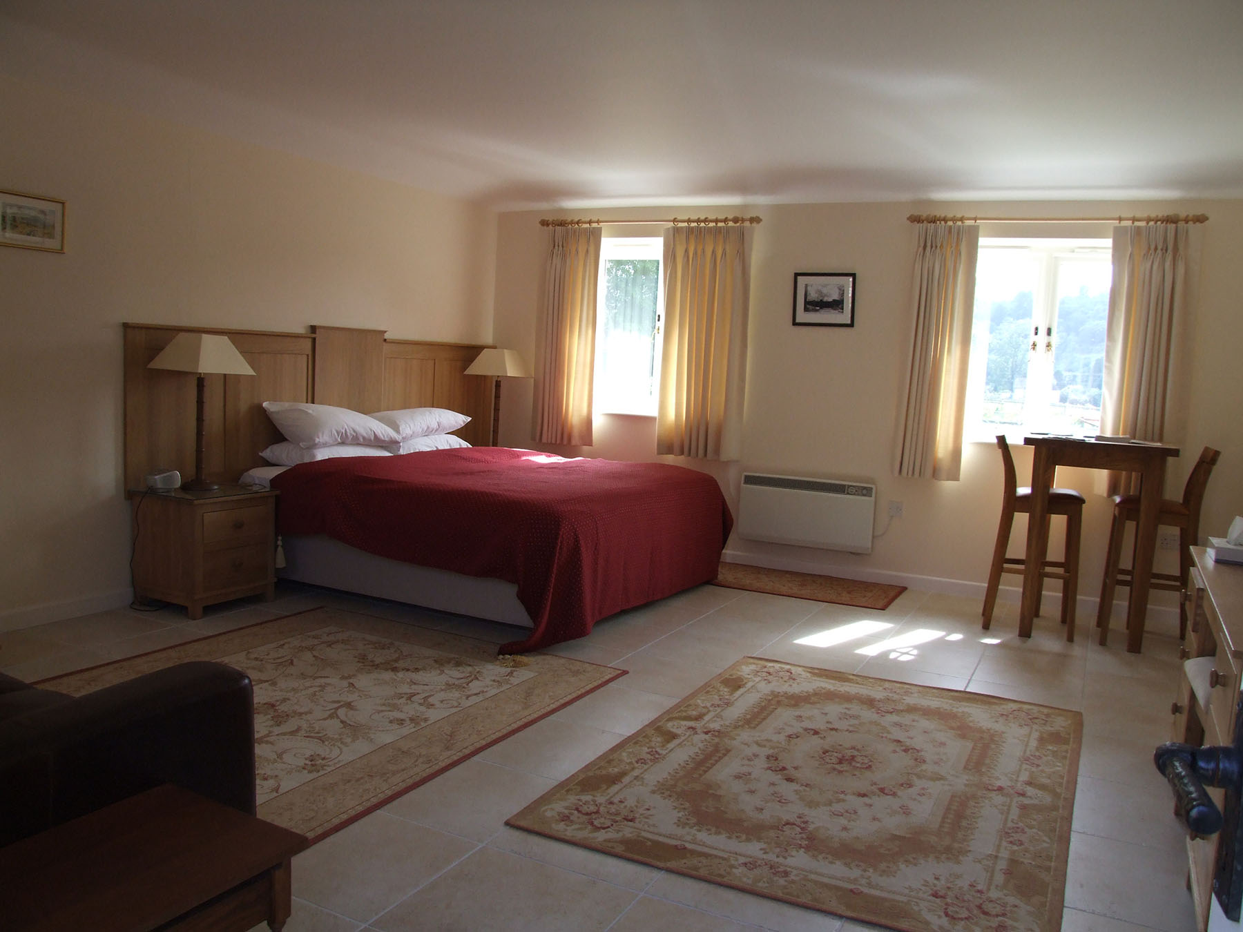 Contemporary style furnishings in the Annexe bedrooms at Chilgrove Farm bed & breakfast near Chichester